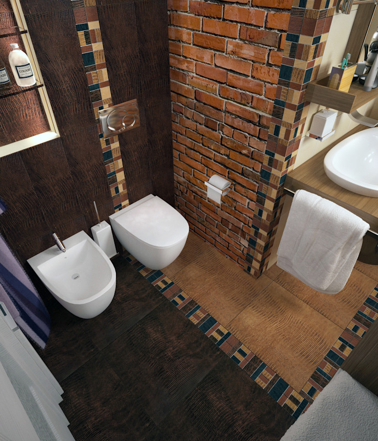 Стандартная ванная в стиле лофт – новостройки Москвы Ванная в стиле лофт от Myroslav Levsky Лофт