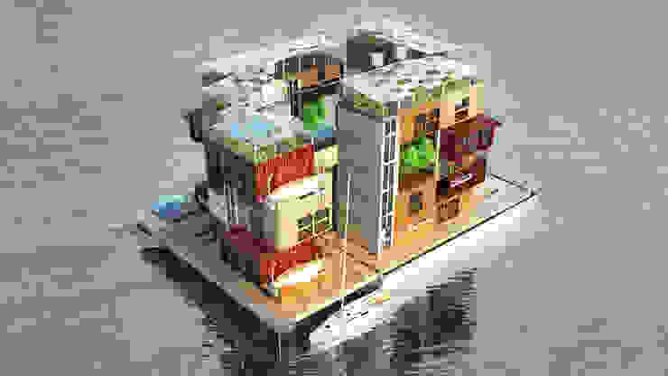 Moving H2ouses/ Мигрирующие дома H2O Дома в стиле минимализм от INT2architecture Минимализм