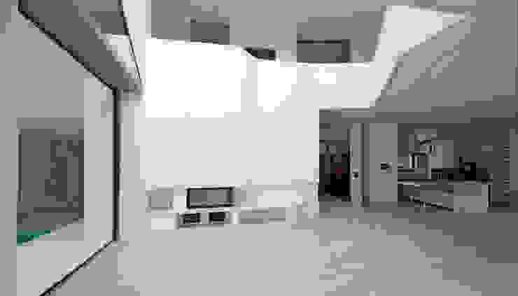 Moderne woonkamers van HS Architekten BDA Modern