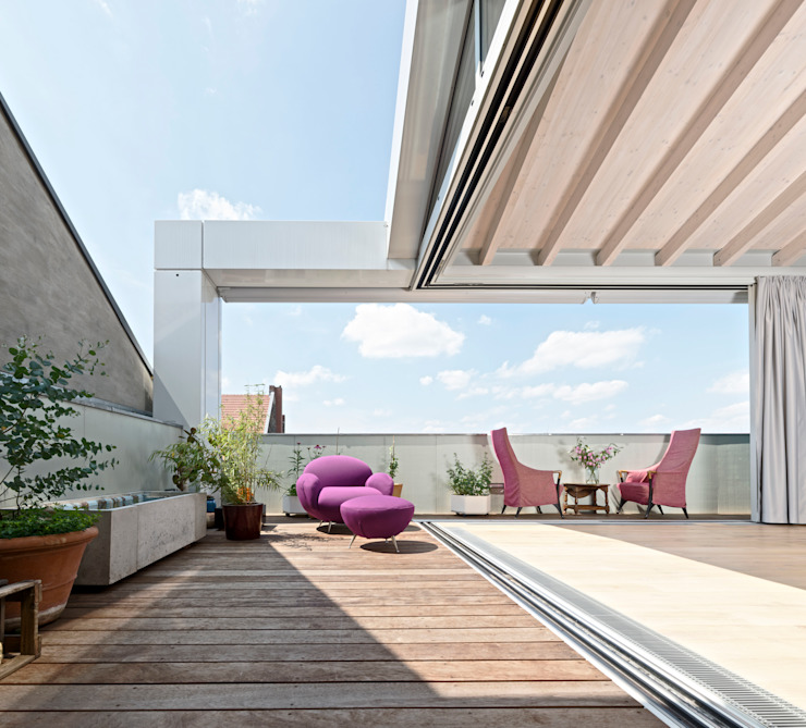 Modern Terrace by HS Architekten BDA Modern