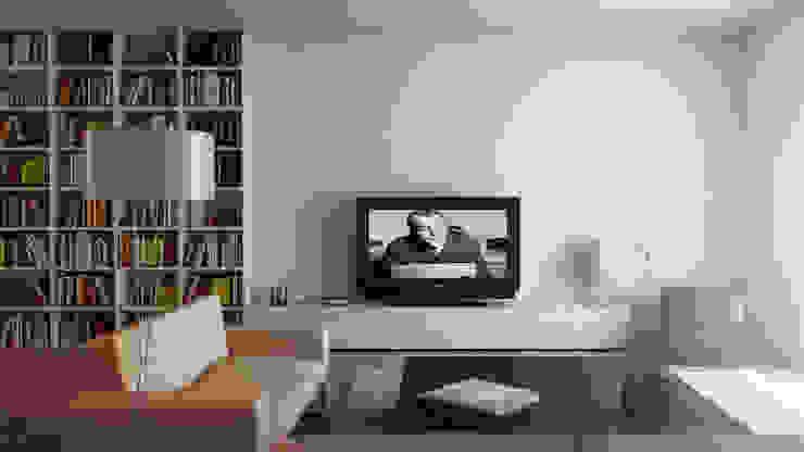 Studio di arredo per una abitazione privata - render Soggiorno moderno di amorosodesign Moderno