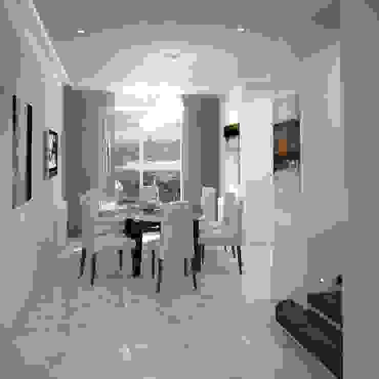 Двухуровневая квартира 160 м2 Столовая комната в стиле минимализм от KARYADESIGN architecture studio Минимализм