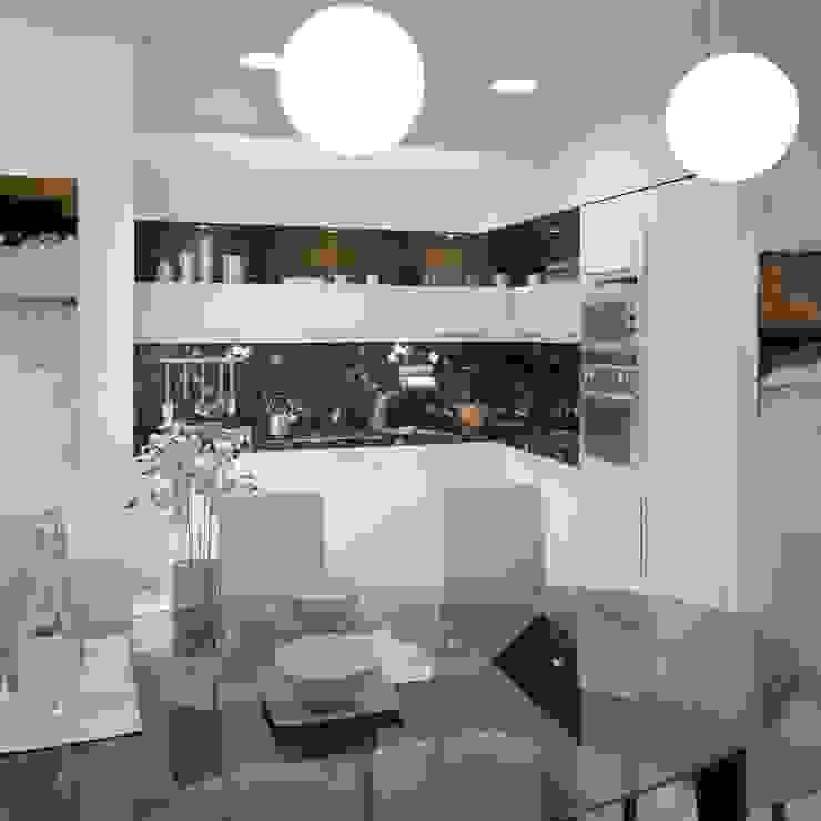 Двухуровневая квартира 160 м2 Кухня в стиле минимализм от KARYADESIGN architecture studio Минимализм