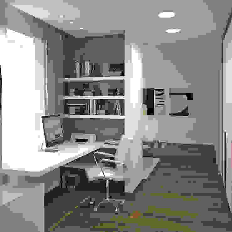 Двухуровневая квартира 160 м2 Рабочий кабинет в стиле минимализм от KARYADESIGN architecture studio Минимализм