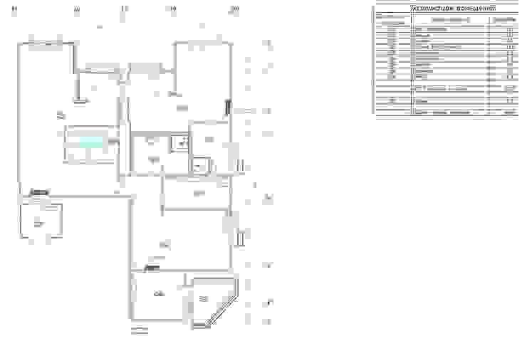 План второго уровня квартиры от KARYADESIGN architecture studio