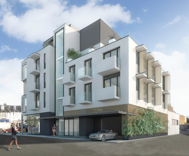 CGI of side elevation by 3s architects and designers ltd