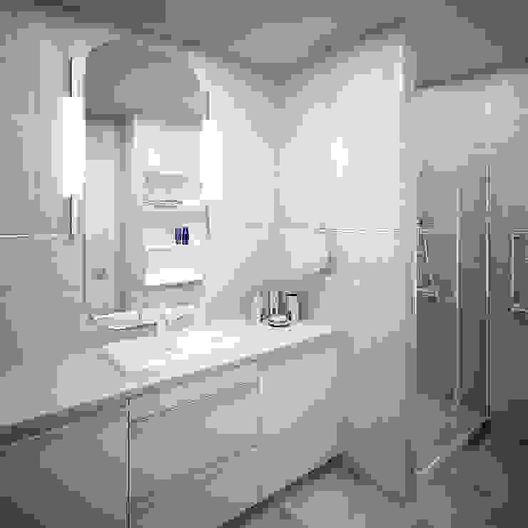 Двухуровневая квартира 160 м2 Ванная комната в стиле минимализм от KARYADESIGN architecture studio Минимализм