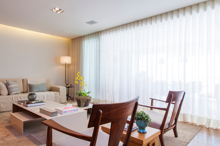 Apartamento RC Salas de estar modernas por Très Arquitetura Moderno