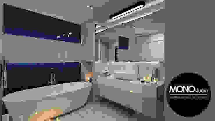 Nowoczesna forma w ekskluzywnym wydaniu i wyjątkowych barwach Nowoczesna łazienka od MONOstudio Nowoczesny