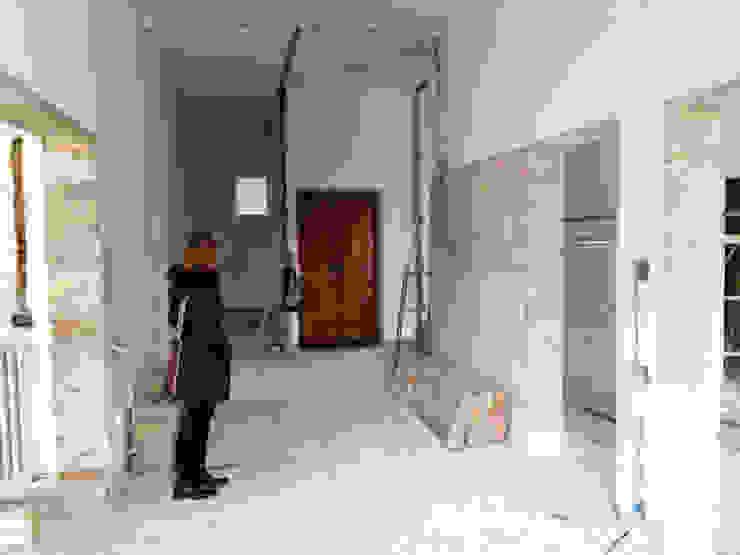 foto sala da pranzo durante i lavori Pasquale Mariani Architetto