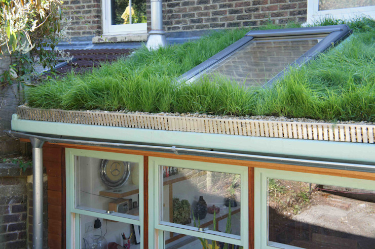 Residential green roofs:  Houses by Organic Roofs, Modern