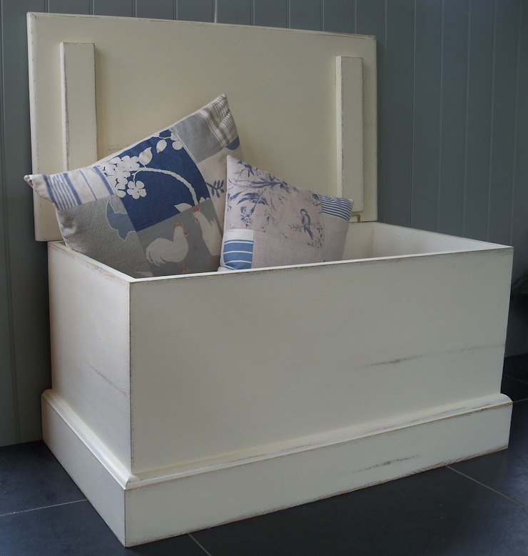 Hand Painted Blanket Box: country  by Rectory Blue, Country