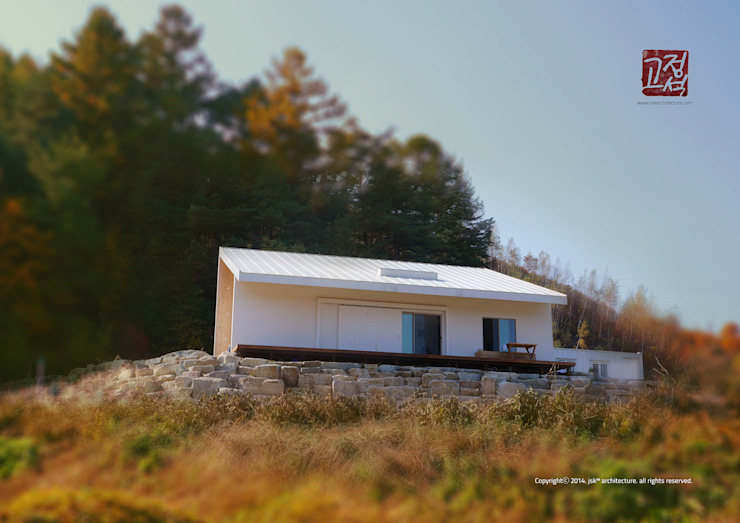 Exterior Minimalist houses by 3015 architects Minimalist