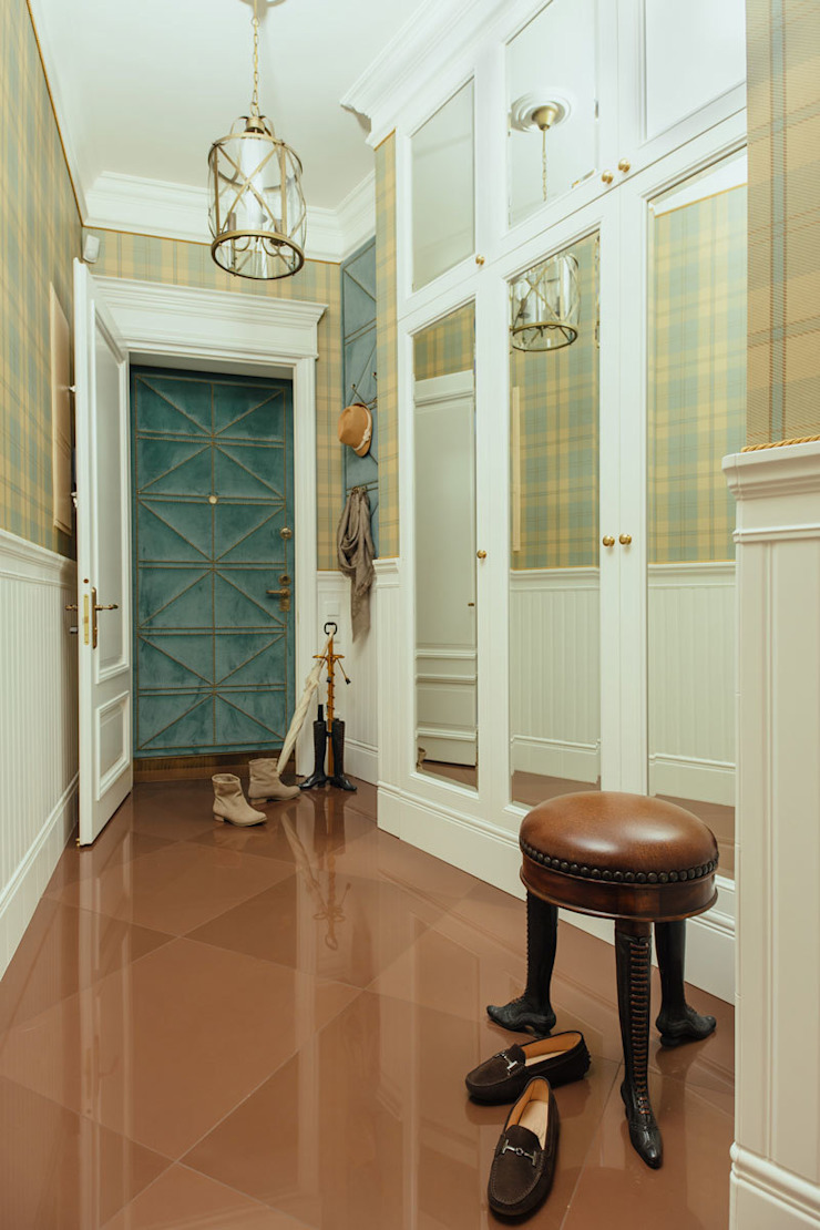 studio68-32 Classic style corridor, hallway and stairs