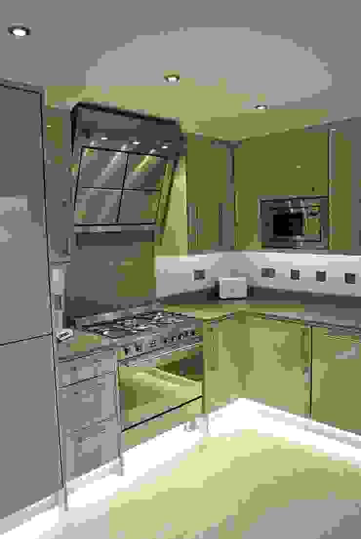 Ultra Gloss Cashmere Cucina Glasgow, City Centre, Scotland Modern kitchen by Glenlith Interiors (Scotland) Ltd Modern