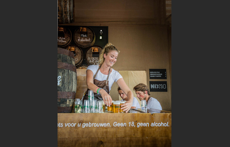 Grolsch   Brand Activation Zwarte Cross 2014 Industriële gastronomie van Studio Linda Franse Industrieel