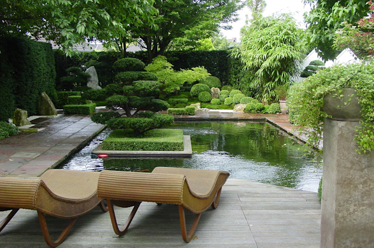 Vườn phong cách chiết trung bởi japan-garten-kultur Chiết trung