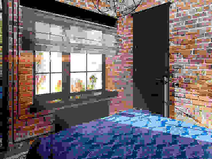 Апартаменты для молодой пары в Москве Спальня в стиле лофт от Anna Vladimirova Лофт