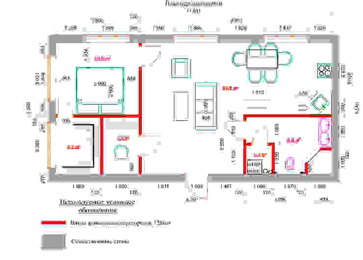 План вновь возводимых перегородок. от Anna Vladimirova