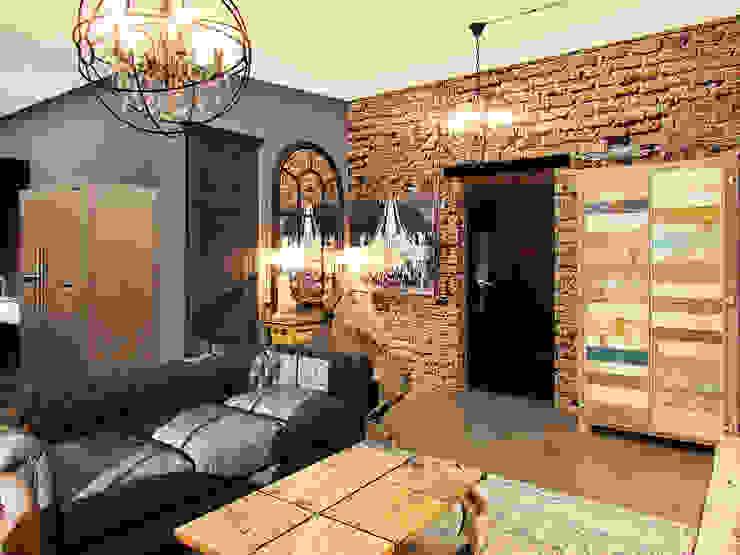 Апартаменты для молодой пары в Москве Коридор, прихожая и лестница в стиле лофт от Anna Vladimirova Лофт