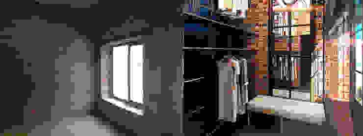 Гардеробная комната до и после от Anna Vladimirova
