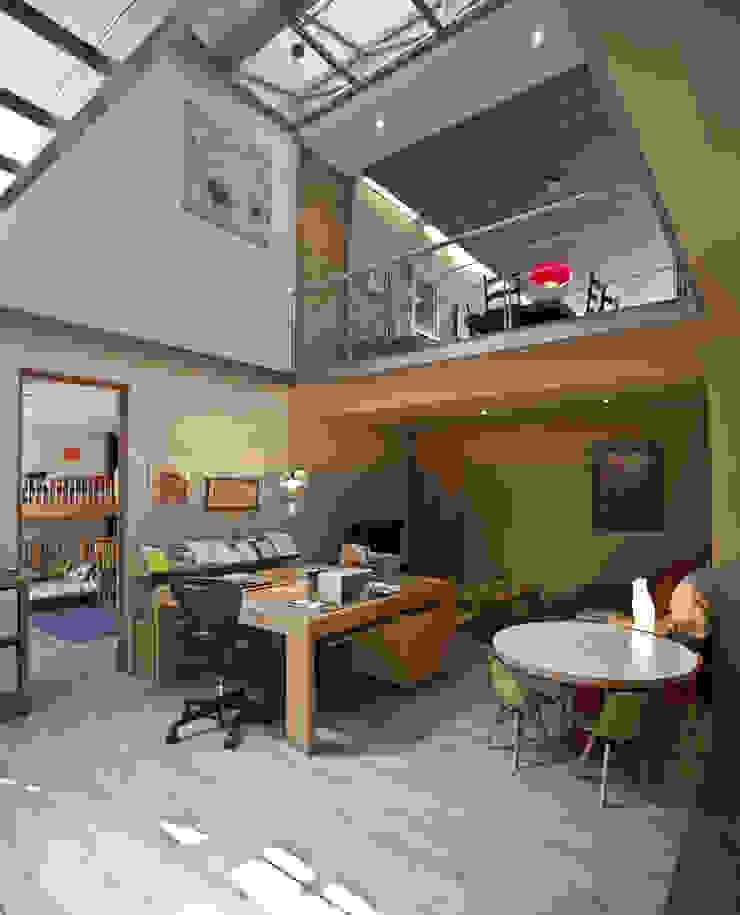 Ruang Studi/Kantor Minimalis Oleh Cm2 Management Minimalis