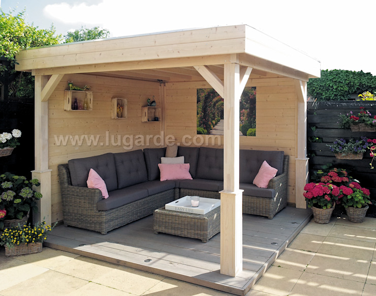 Vrijstaande veranda 300x300 cm Moderne balkons, veranda's en terrassen van Lugarde BV Modern
