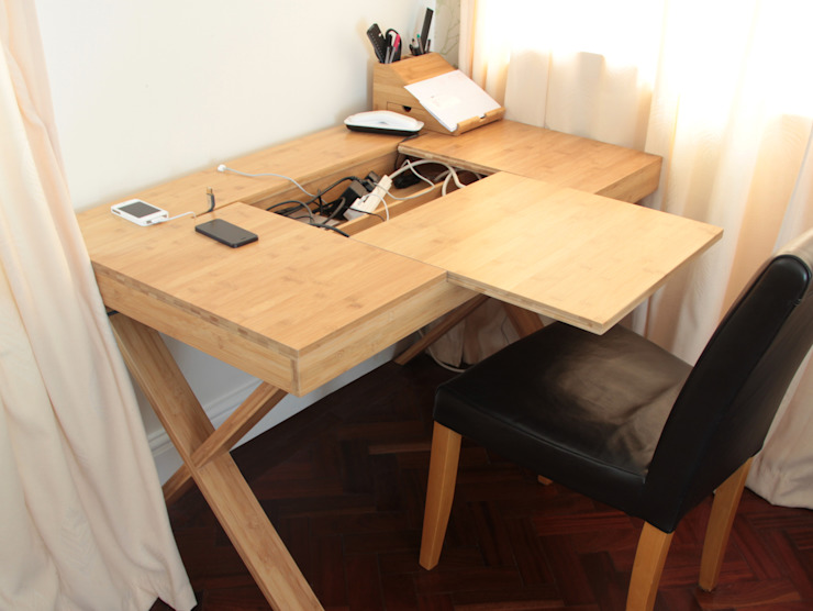Cable-Tidy Home Office Desk por Finoak LTD Moderno