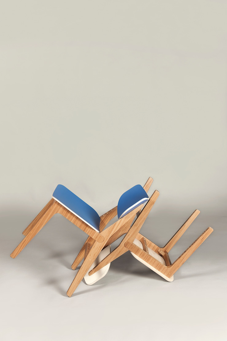 Neighbourhood Chair - Cornflower Blue and Pearl: modern  by ByALEX, Modern