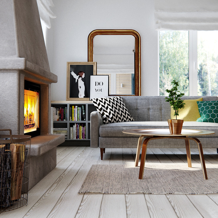 INT2architecture Scandinavian style living room