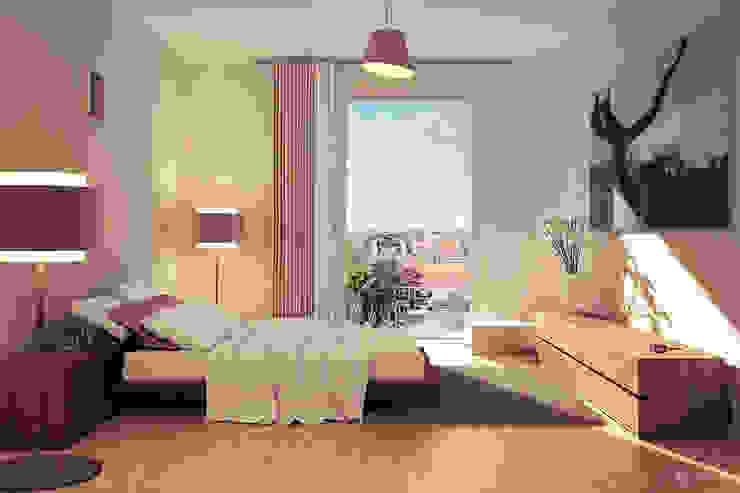Ausblick Eilbek - Ein Passivhaus für höchste Ansprüche Moderne Schlafzimmer von dreidesign Modern
