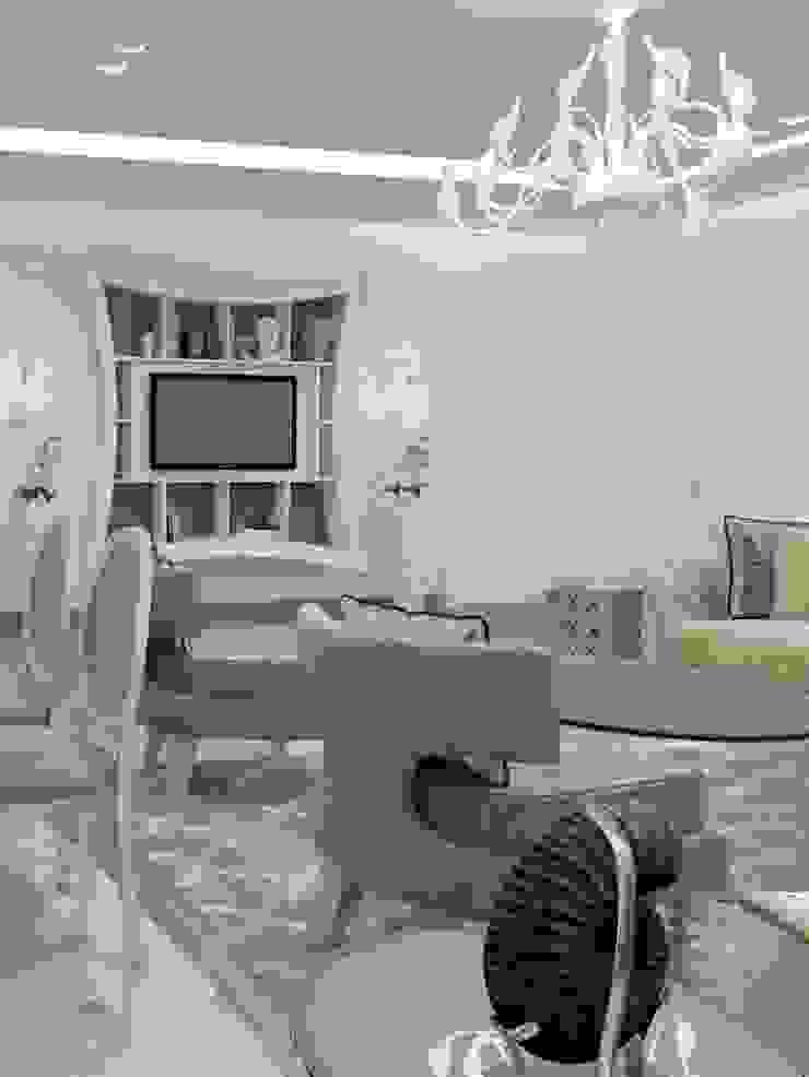 Белый интерьер в стиле ар деко Гостиная в стиле модерн от pashchak design Модерн