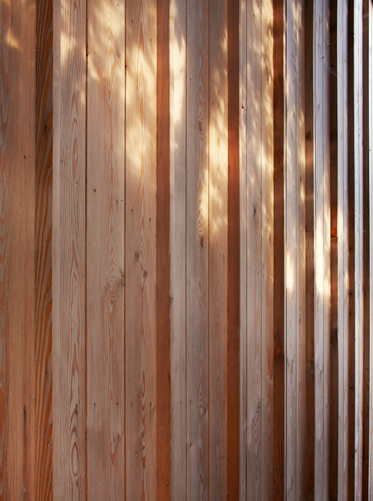 Timber cladding detail Modern houses by Neil Dusheiko Architects Modern