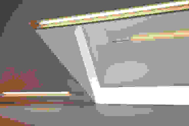 LED strip lighting detail Modern corridor, hallway & stairs by Neil Dusheiko Architects Modern