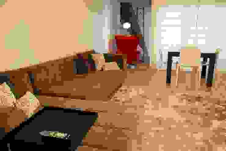 Modern Oturma Odası Traço Magenta - Design de Interiores Modern