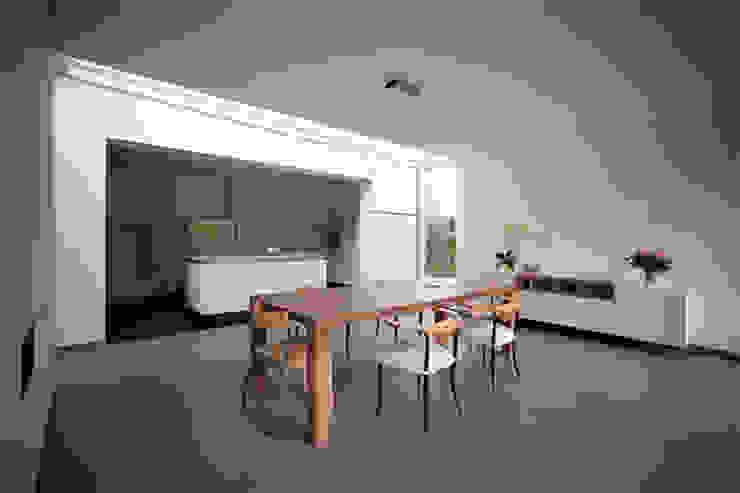 eetkamer bij keuken Moderne eetkamers van 3d Visie architecten Modern
