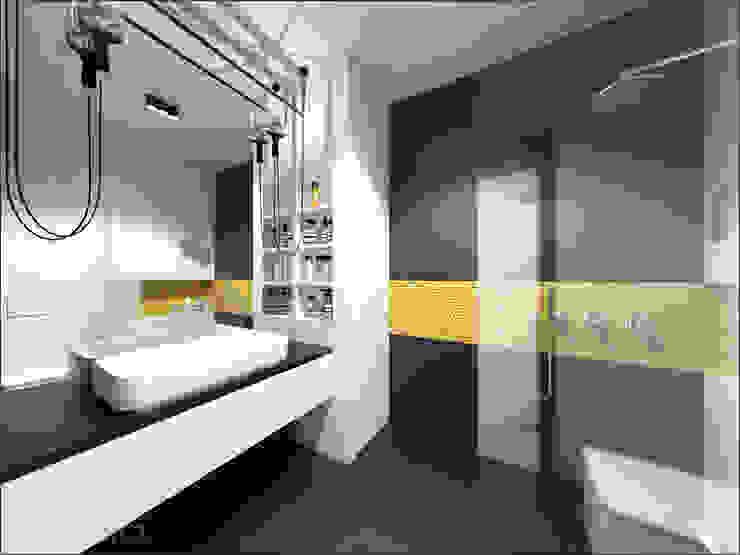 Brzeska Minimalistyczna łazienka od OHlala Wnętrza Minimalistyczny