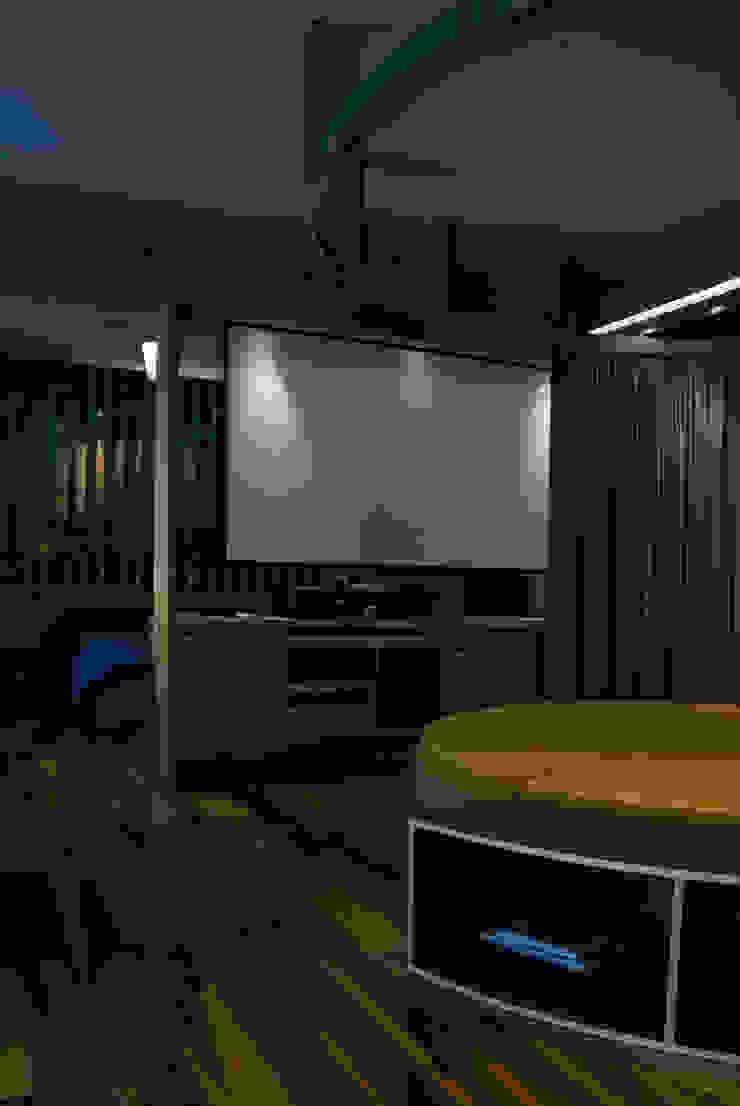 Interior | Apartamento – IV Salas multimídia modernas por ARQdonini Arquitetos Associados Moderno