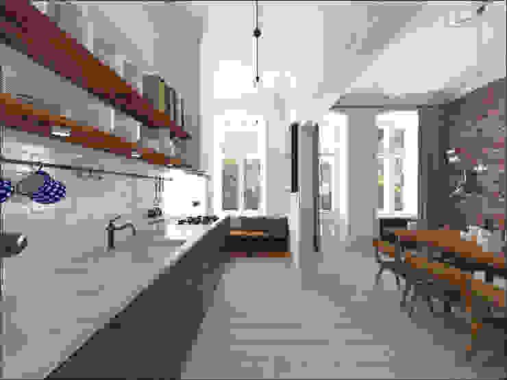 Kamienica 110 Eklektyczna kuchnia od OHlala Wnętrza Eklektyczny
