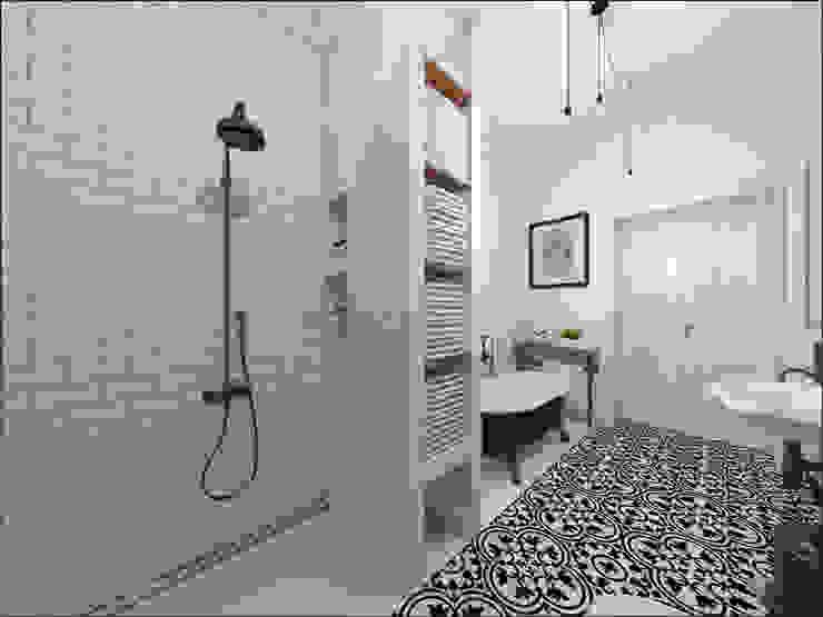 Kamienica 110 Eklektyczna łazienka od OHlala Wnętrza Eklektyczny