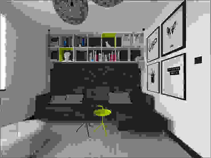 Brzeska Minimalistyczny salon od OHlala Wnętrza Minimalistyczny