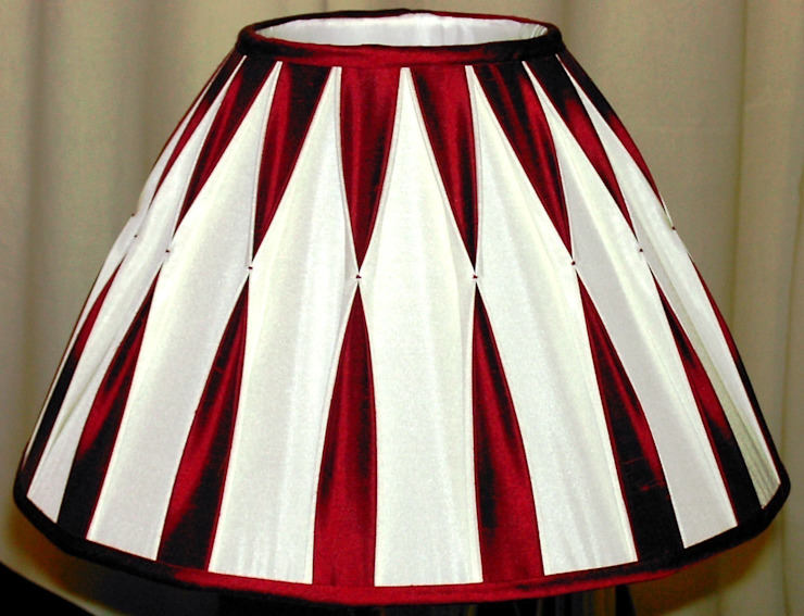 Two colour smocked box-pleated lampshade: classic  by A Shade Above, Classic