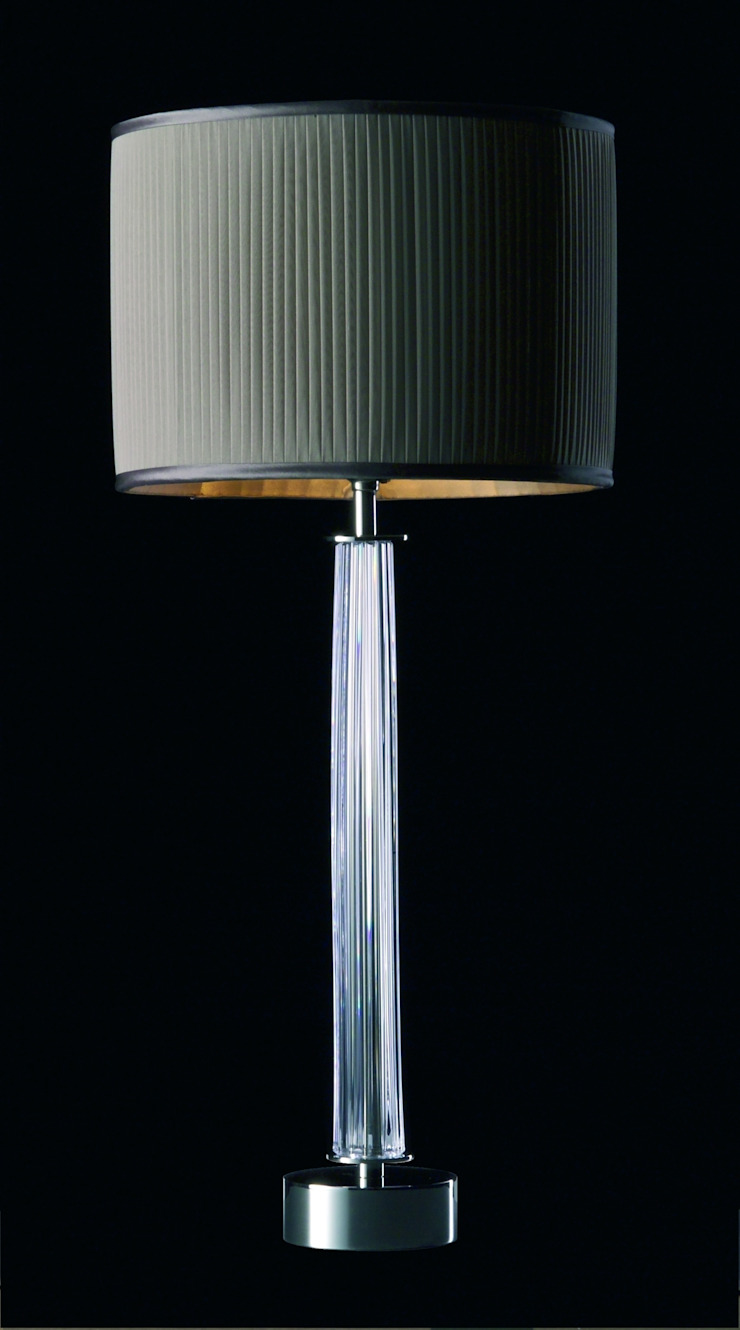 Knife-pleated chiffon drum lampshade: modern  by A Shade Above, Modern