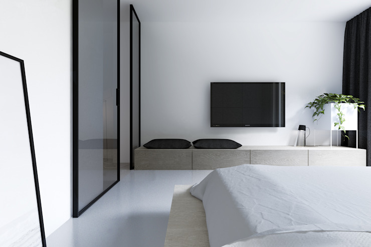 Minimalist bedroom by KUOO ARCHITECTS Minimalist