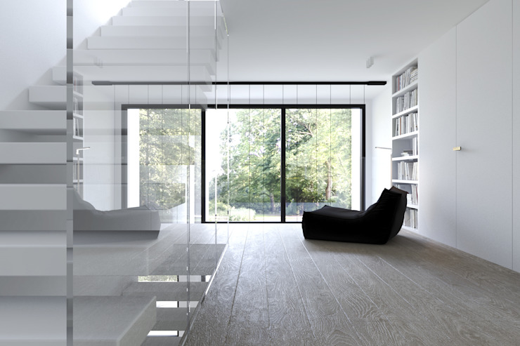 Koridor & Tangga Minimalis Oleh KUOO ARCHITECTS Minimalis