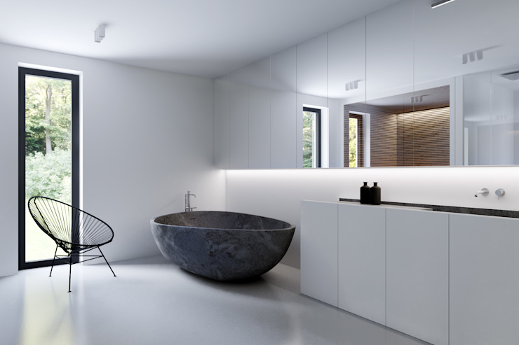 Minimalist style bathroom by KUOO ARCHITECTS Minimalist