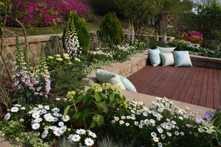 Jardin rural par Garden Studio Allium Rural