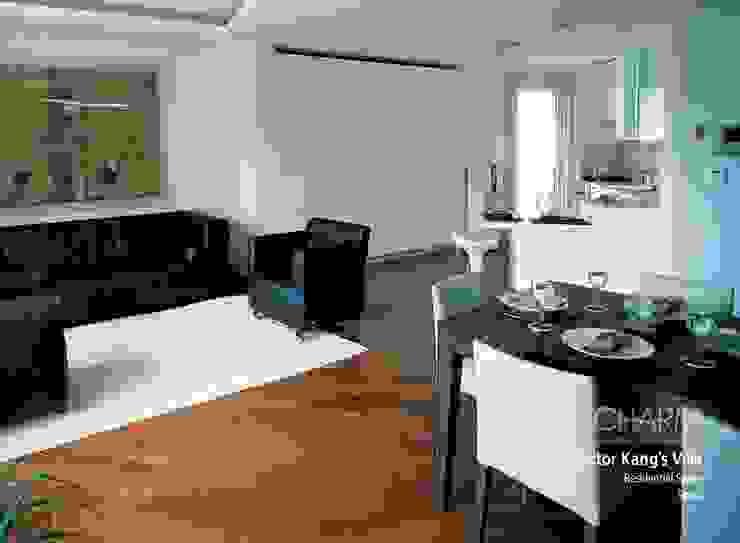 现代客厅設計點子、靈感 & 圖片 根據 참공간 디자인 연구소 現代風