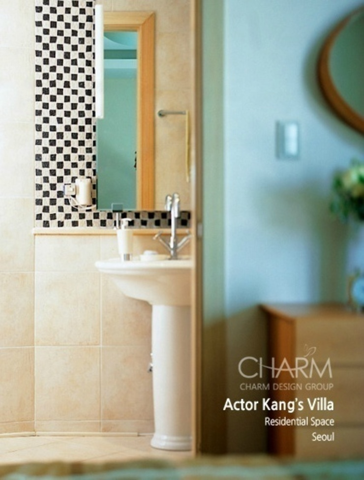 現代浴室設計點子、靈感&圖片 根據 참공간 디자인 연구소 現代風