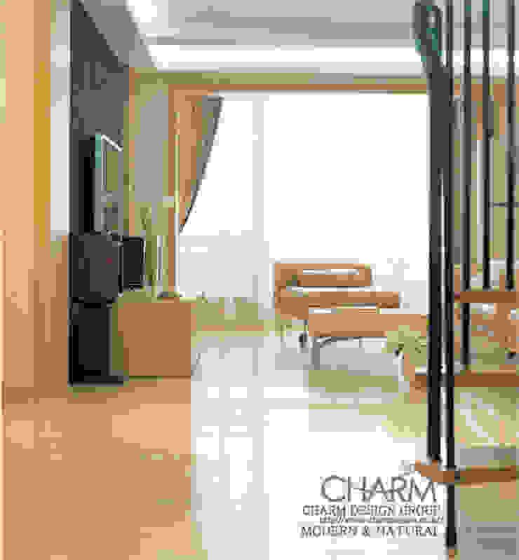 모던 내추럴 하우스 클래식스타일 거실 by 참공간 디자인 연구소 클래식